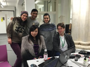Jing, Suzie, Martina, Brian and Heman created a detachable tray to allow wheelchair user to have a support when other surfaces like tables or desks are not available